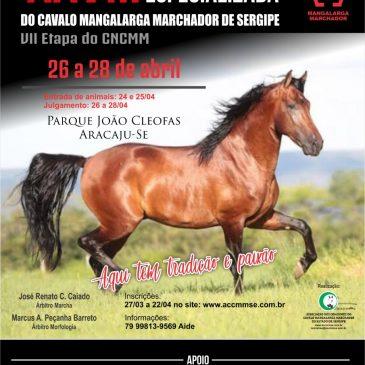 XXVIII Exposição Especializada do Cavalo Mangalarga Marchador de Sergipe – VII Etapa do CNCMM